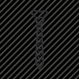 normal tie, polka dot tie, polkadot tie, regular tie, skinny tie, tie, work tie icon
