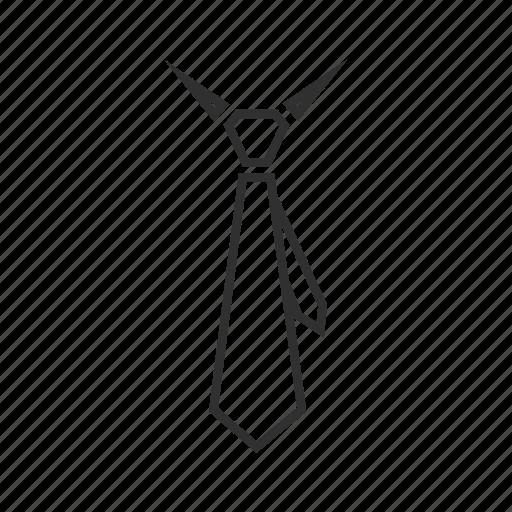 business tie, plain tie, regular tie, tail, tie, tie with tail, work tie icon