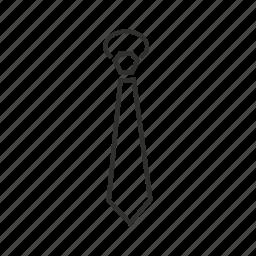 business, business tie, plain tie, regular tie, tie, work, work tie icon