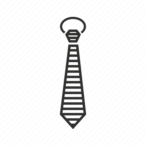 business tie, male tie, man tie, regular tie, striped tie, tie, work tie icon