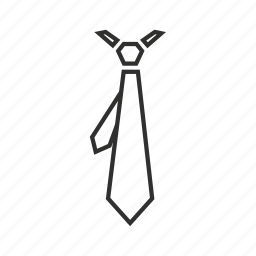 business tie, plain tie, regular tie, tie, tie and tail, tie with tail, work tie icon