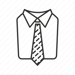 business, shirt, shirt and tie, striped tie, suit, suit and tie, tie icon