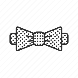 bow, bow tie, bowtie, business, polka dot, polka dot bow tie, tie icon
