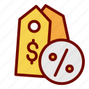 discount, label, percent, price, shopping, tag icon