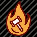 auction, bid, hammer, hot, items, popular icon