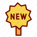 items, new, sign, tag icon