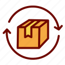 delivery, logistic, package, policy, product, return icon