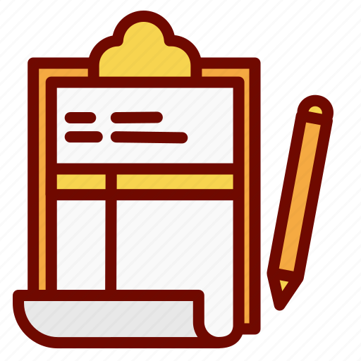 document, list, name, paper, pen, sheet icon