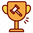 auction, bidding, champion, reward, successful, winner icon