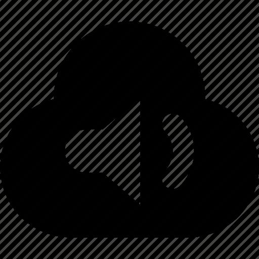 audio, cloud icon