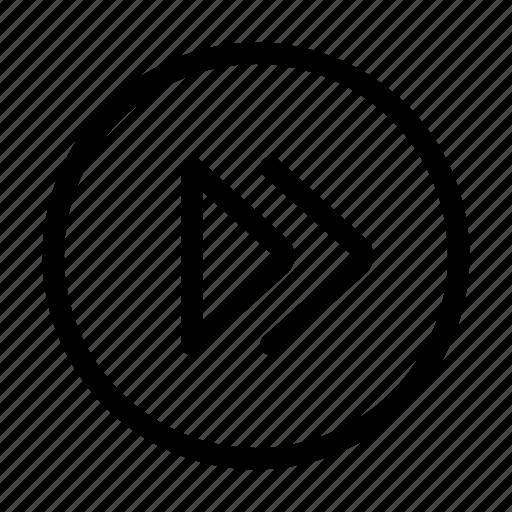 arrows, control, fast, forward, multimedia icon