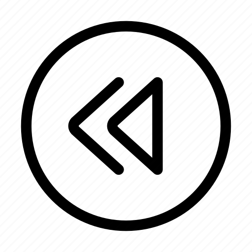 arrows, control, fast, rewind icon