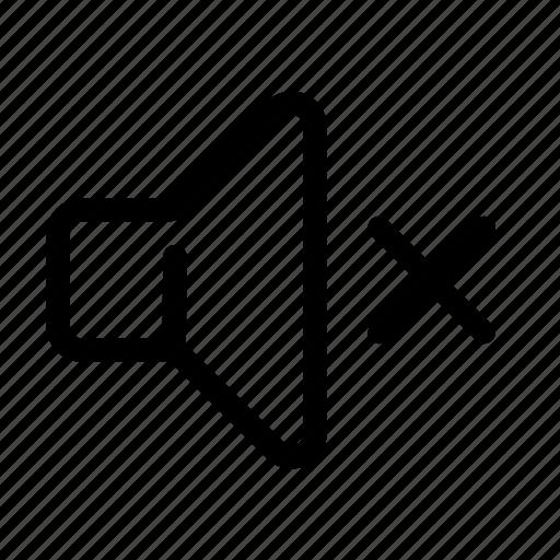 Mute, off, quiet, sound, speaker, volume icon - Download on Iconfinder