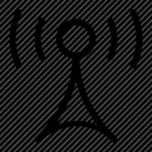broadcast, communication, mobile, radio, signal, tower icon