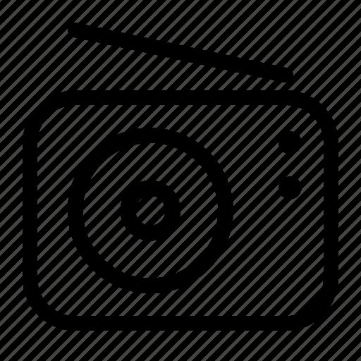Audio, communication, listen, music, radio, station icon - Download on Iconfinder