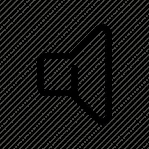 Audio, music, mute, quiet, sound, speaker, volume icon - Download on Iconfinder