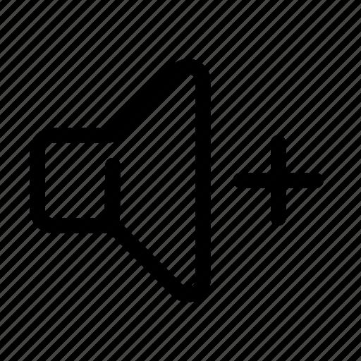 Increase, louder, multimedia, plus, sound, speaker, volume icon - Download on Iconfinder