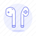 2, airpod, audio, bluetooth, ear, headphones, headsets, in icon