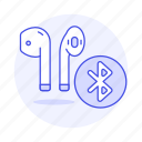 3, airpod, audio, bluetooth, ear, headphones, headsets, in icon