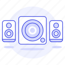 2, audio, speakers icon