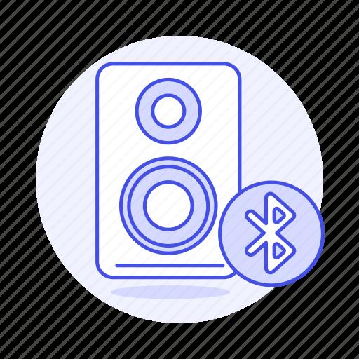 audio, bluetooth, channel, connection, desktop, mono, pc, speakers icon