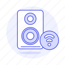 audio, channel, connection, desktop, mono, pc, speakers, wifi icon