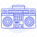 radio, jambox, player, speaker, audio, boombox, cassette, stero, recorder, ghettoblaster