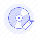 audio, bookmark, cd, compact, disc, music, players, tag icon
