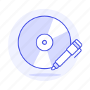audio, cd, compact, disc, marker, music, players, write icon