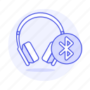 2, audio, bluetooth, ear, headphones, headsets, on icon