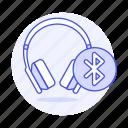 headsets, ear, audio, on, bluetooth, headphones