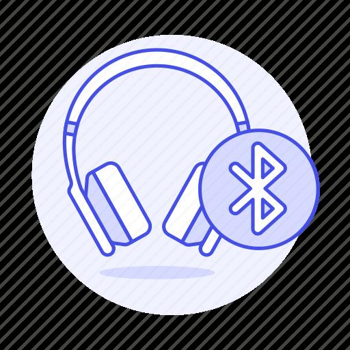 2, audio, bluetooth, ear, headphones, headsets, on icon