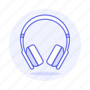 1, audio, ear, headphones, headsets, on, wireless icon