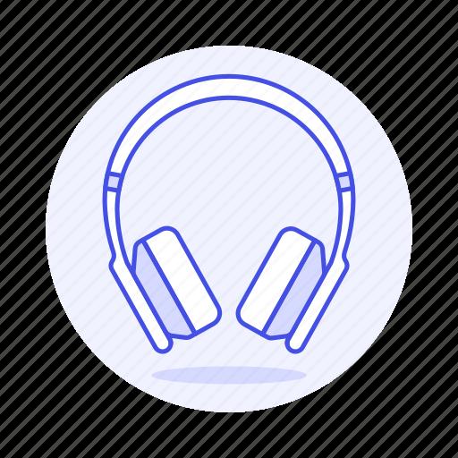 1, audio, ear, headphones, headsets, on, wireless icon