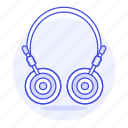 audio, ear, headphones, headsets, on, wireless icon