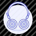 audio, ear, headphones, headsets, on, wireless