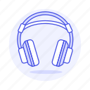 audio, ear, headphones, headsets, over, wireless icon