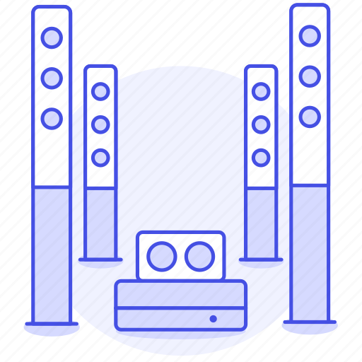 audio, home, speakers, theater icon