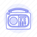 audio, digital, display, fashioned, old, portable, radio, retro, vintage icon