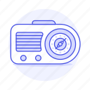 analog, audio, clock, fashioned, old, radio, retro, vintage icon