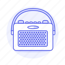 audio, fashioned, old, portable, radio, retro, vintage icon