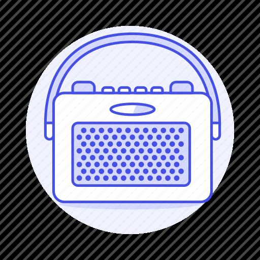 Audio, fashioned, old, portable, radio, retro, vintage icon - Download on Iconfinder