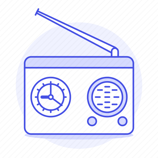 antenna, audio, clock, fashioned, old, radio, retro, vintage icon
