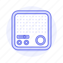 audio, fashioned, old, radio, retro, vintage icon
