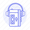 player, cassette, recorder, retro, on, tape, music, ear, players, headphones, walkman, portable, audio