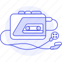 player, cassette, recorder, retro, tape, music, in, players, headphones, walkman, portable, audio, ear