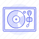 1, audio, disc, music, players, retro, turntable, vintage, vinyl icon