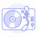 2, audio, disc, music, players, retro, turntable, vintage, vinyl icon