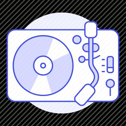 2, audio, disc, music, players, retro, turntable, vintage, vinyl icon