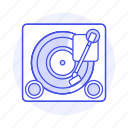 3, audio, disc, music, players, retro, turntable, vintage, vinyl icon